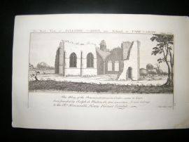 Buck C1820 Folio Architecture Print. Egleston Abbey, Richmond, Yorkshire